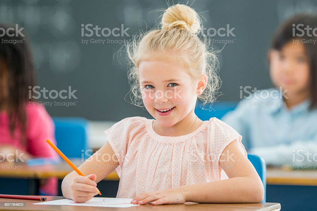 First Day of Class stock photo