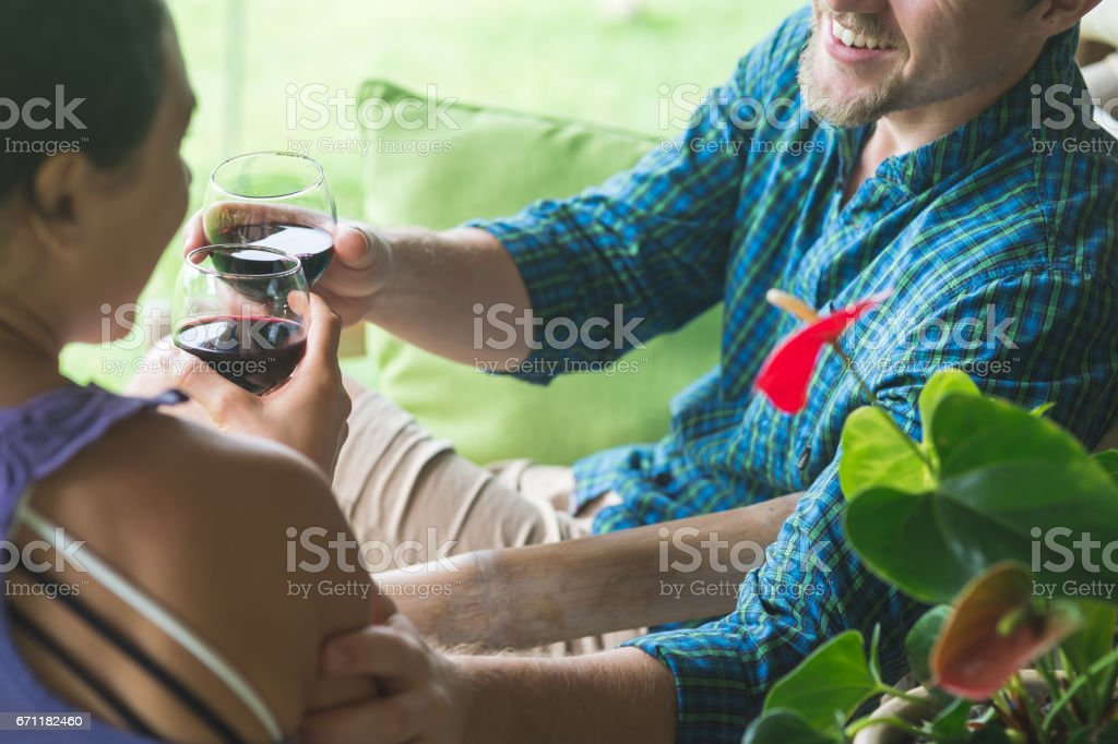 First day of Hawaii vacation! stock photo