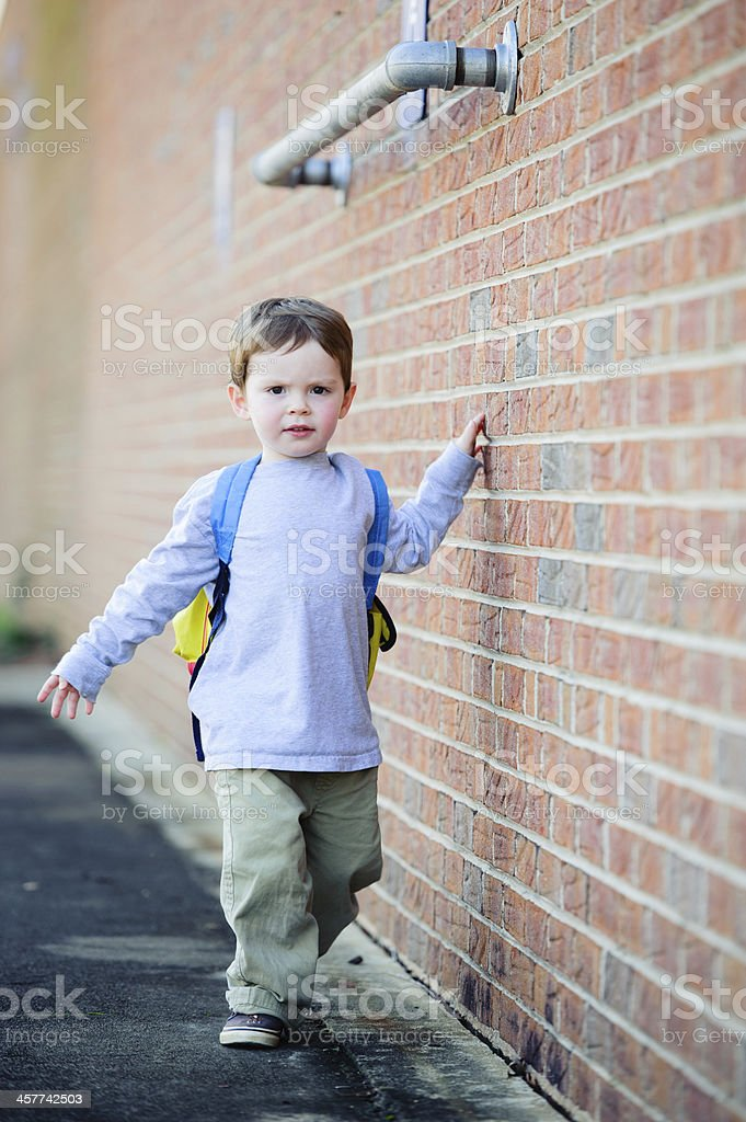 First Day of School - Building side royalty-free stock photo