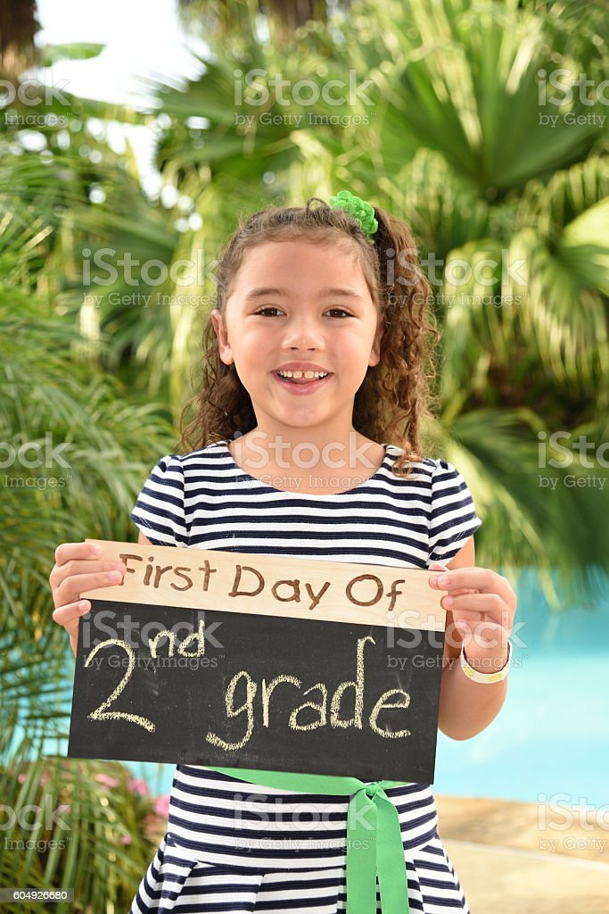 First Day of Second Grade stock photo