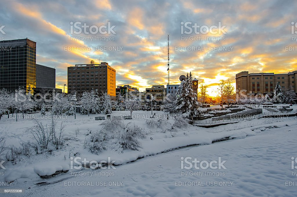 First day of winter stock photo