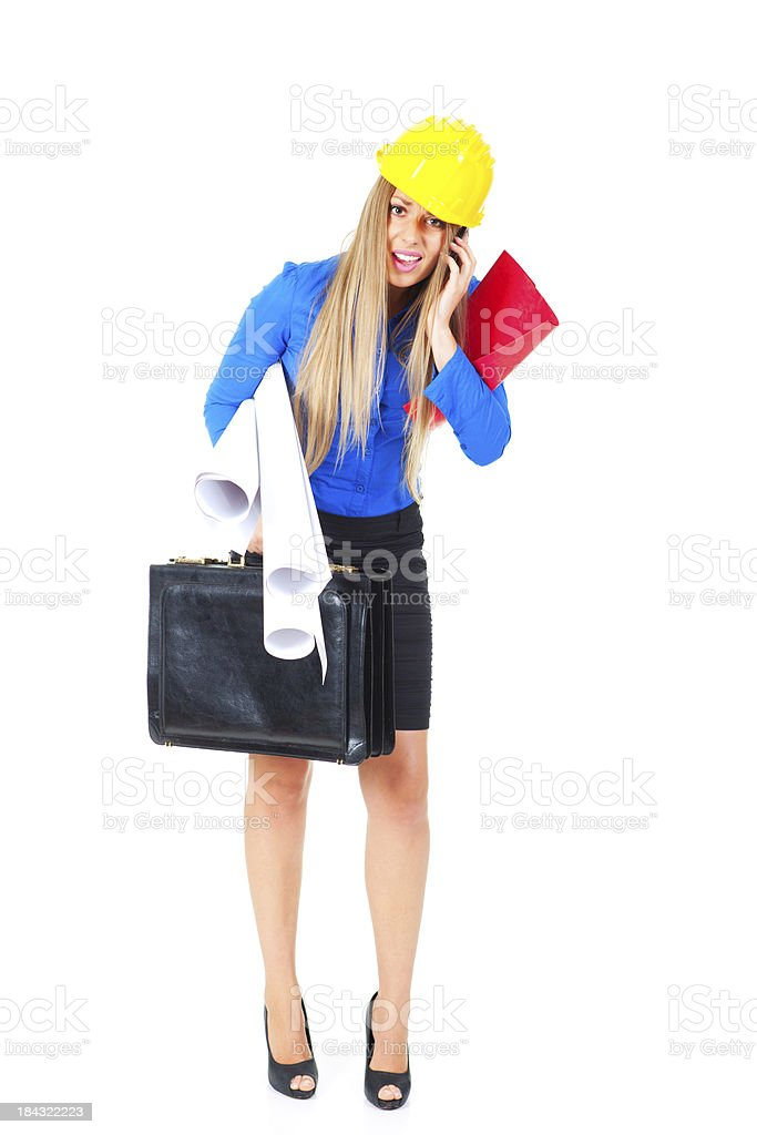 First day on job royalty-free stock photo