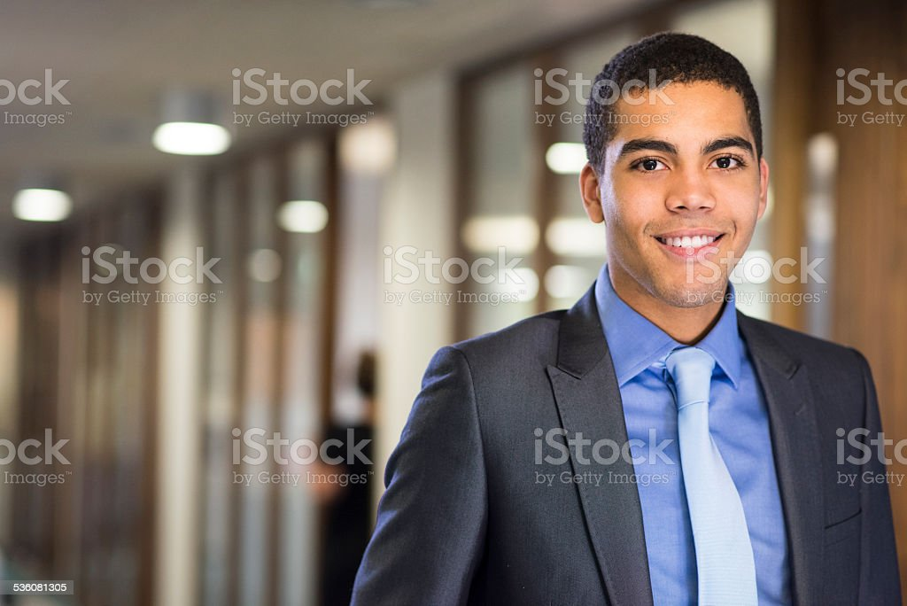 first day on the job for graduate stock photo