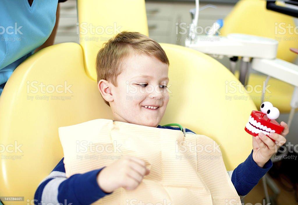 First Dental Visit royalty-free stock photo