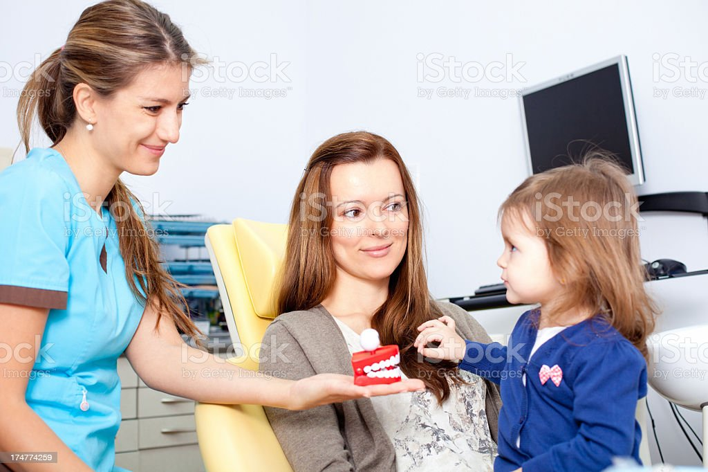 First Dental Visit royalty-free stock photo
