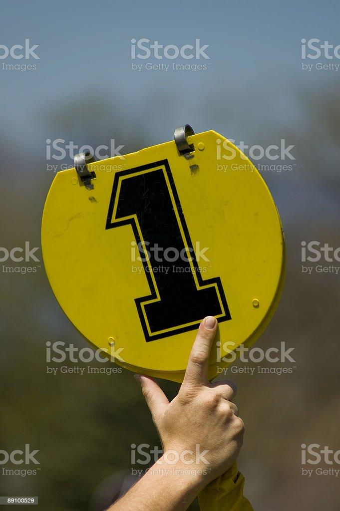 first down sign royalty-free stock photo