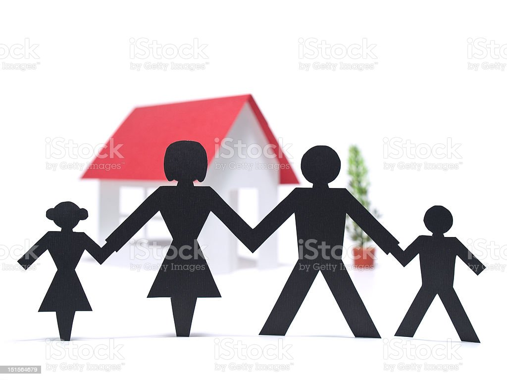 First family house royalty-free stock photo