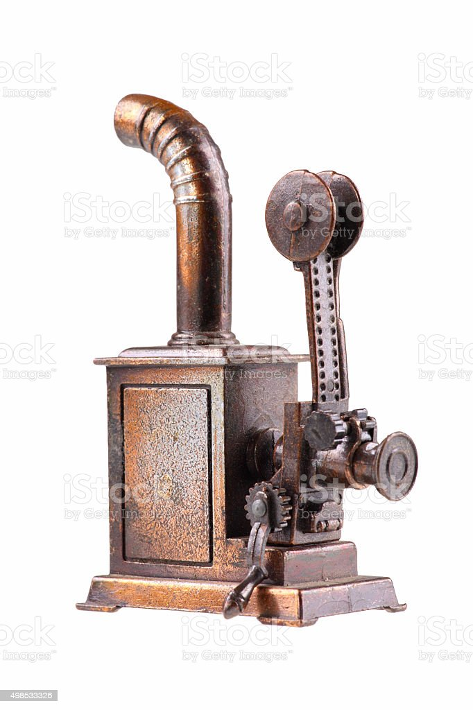 First film projector-isolated stock photo