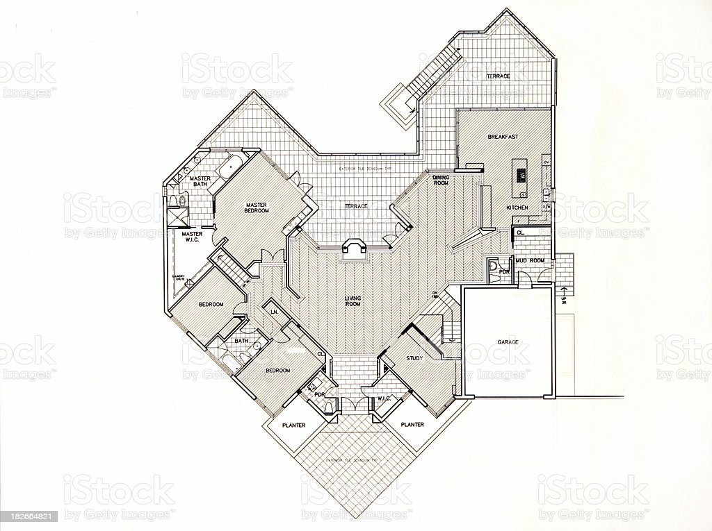 first floor layout royalty-free stock photo