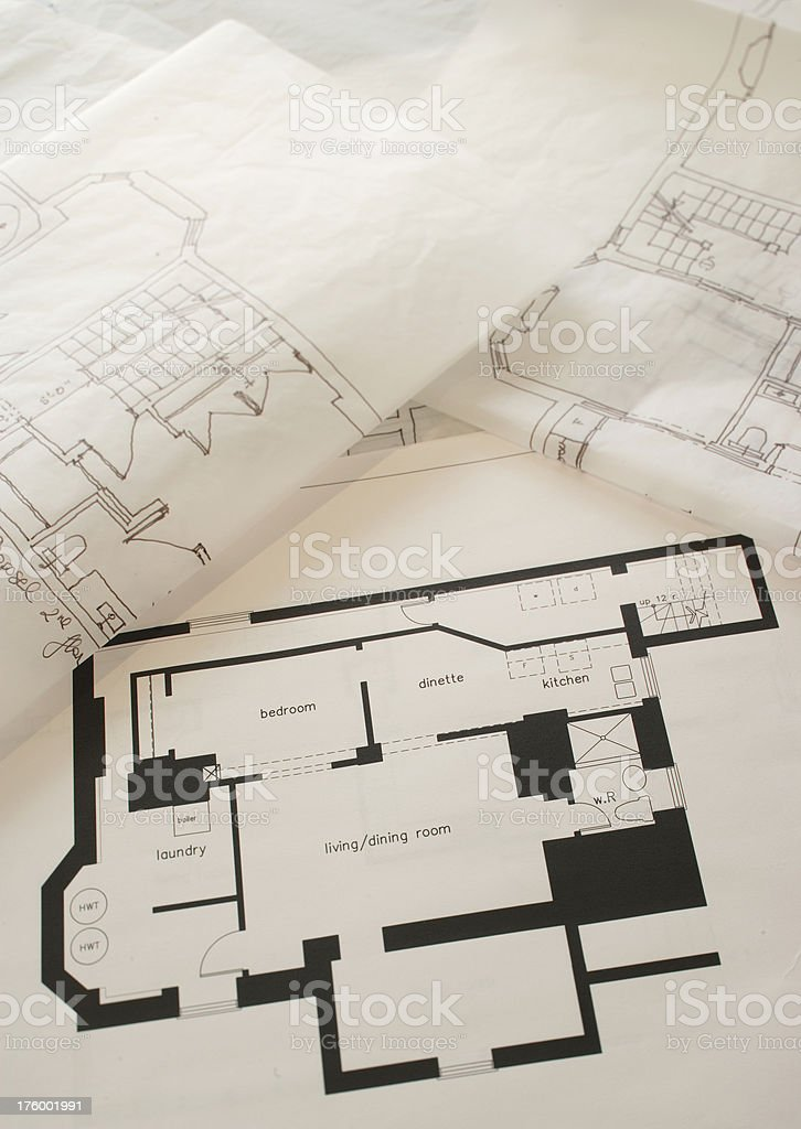 first floor plan royalty-free stock photo