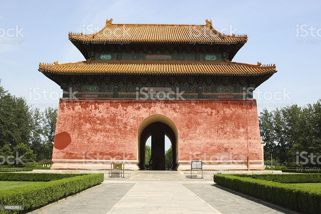 First Gate of Ming Graves near Beijing stock photo