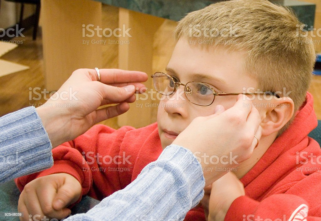 First Glasses Fitting royalty-free stock photo