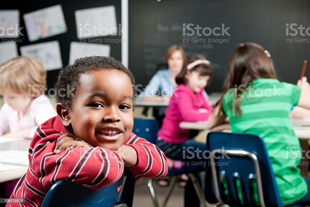 First grade royalty-free stock photo