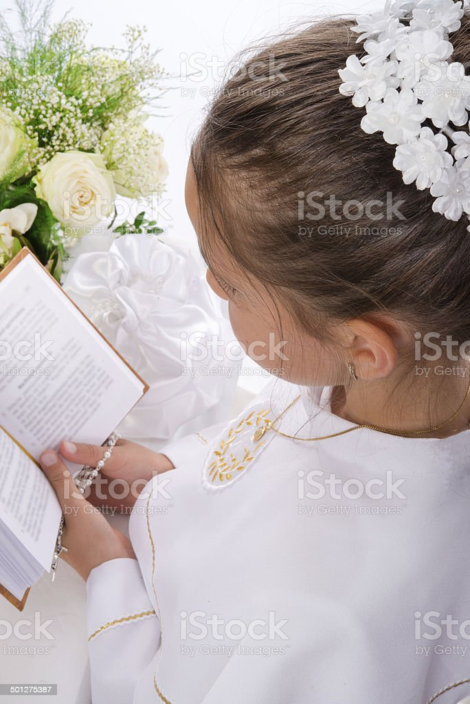 First Holy Communion royalty-free stock photo