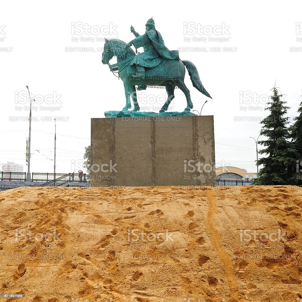 First in Russia Ivan the Terrible monument freshly installed stock photo