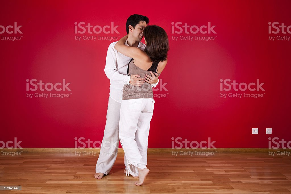 First kiss in the new house royalty-free stock photo