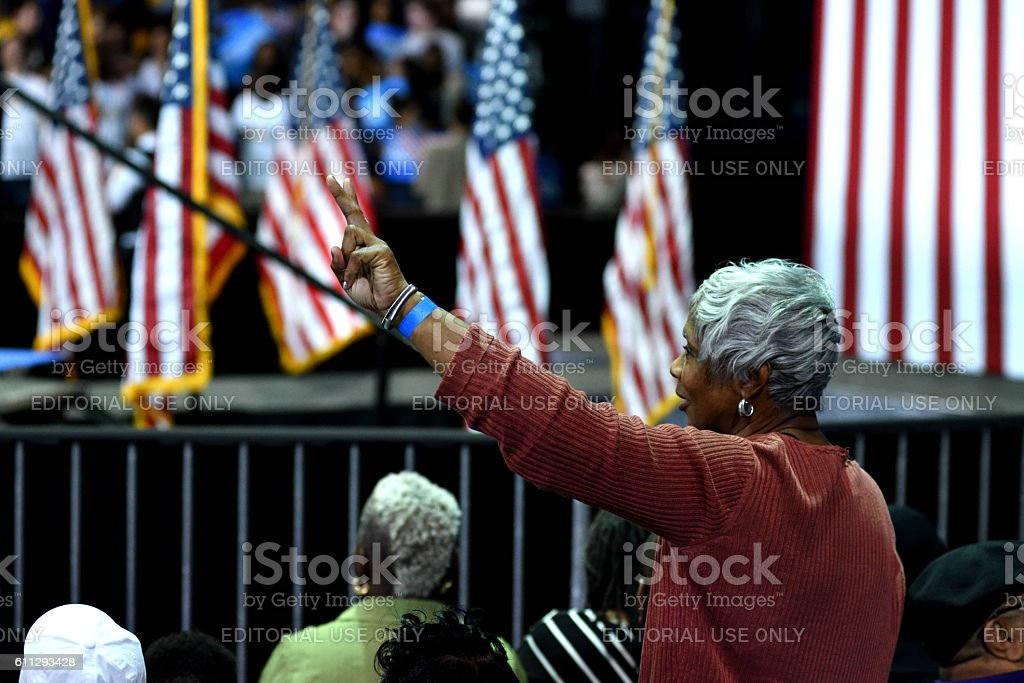 First Lady Michelle Obama Rallies for Clinton in Philadelphia, PA stock photo