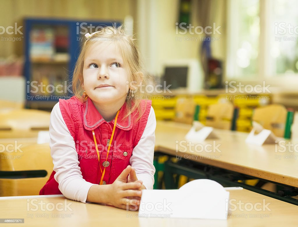 First lessons of School royalty-free stock photo