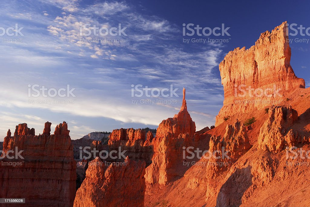 First Light at Bryce stock photo
