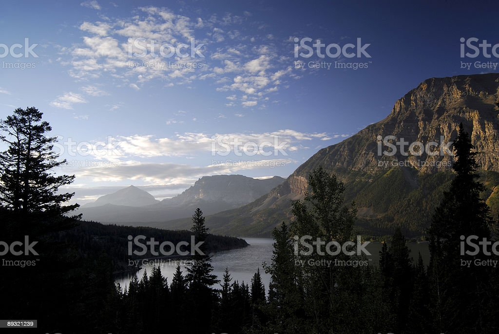 First Light at Glacier National Park royalty-free stock photo
