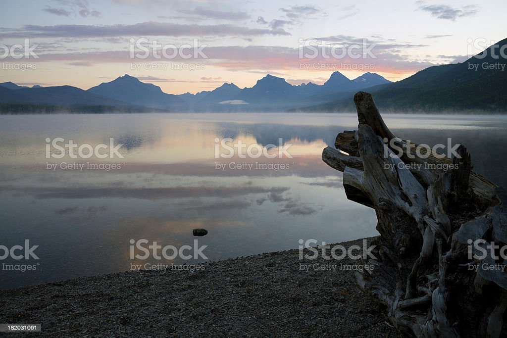 First Light at Lake MacDonald royalty-free stock photo