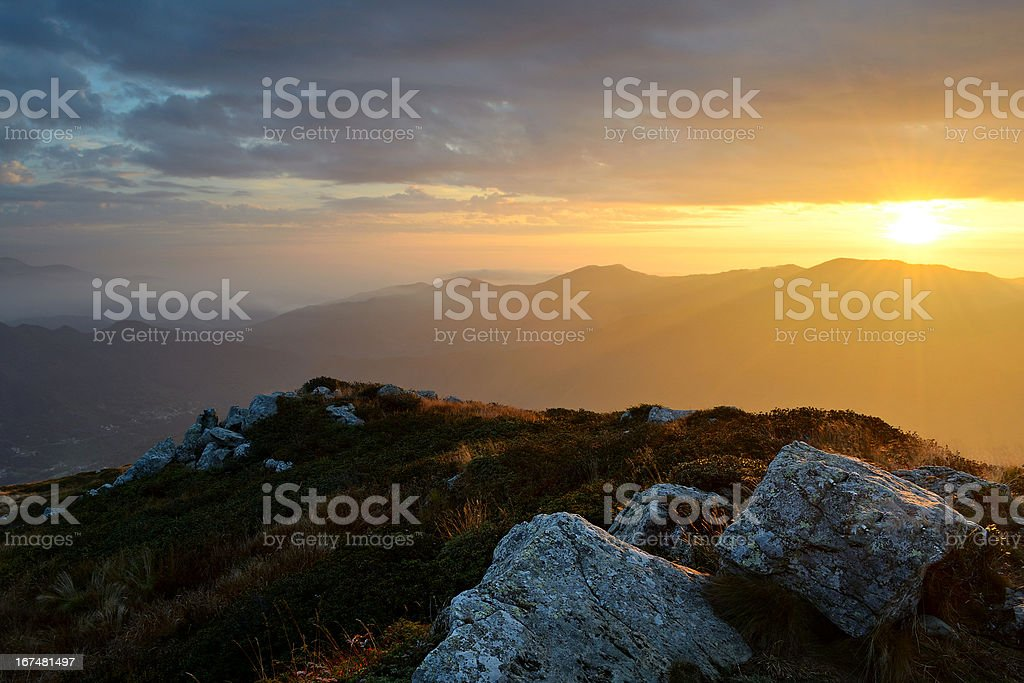 First light in the Alps royalty-free stock photo