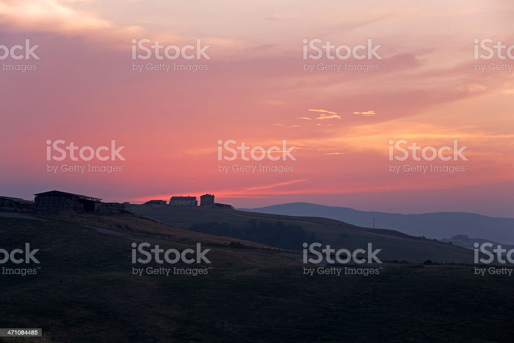 First light in the tuscan hills II royalty-free stock photo