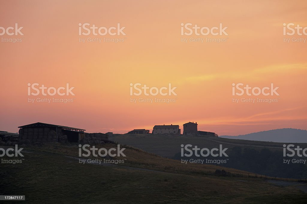 First light in tuscan hills I royalty-free stock photo