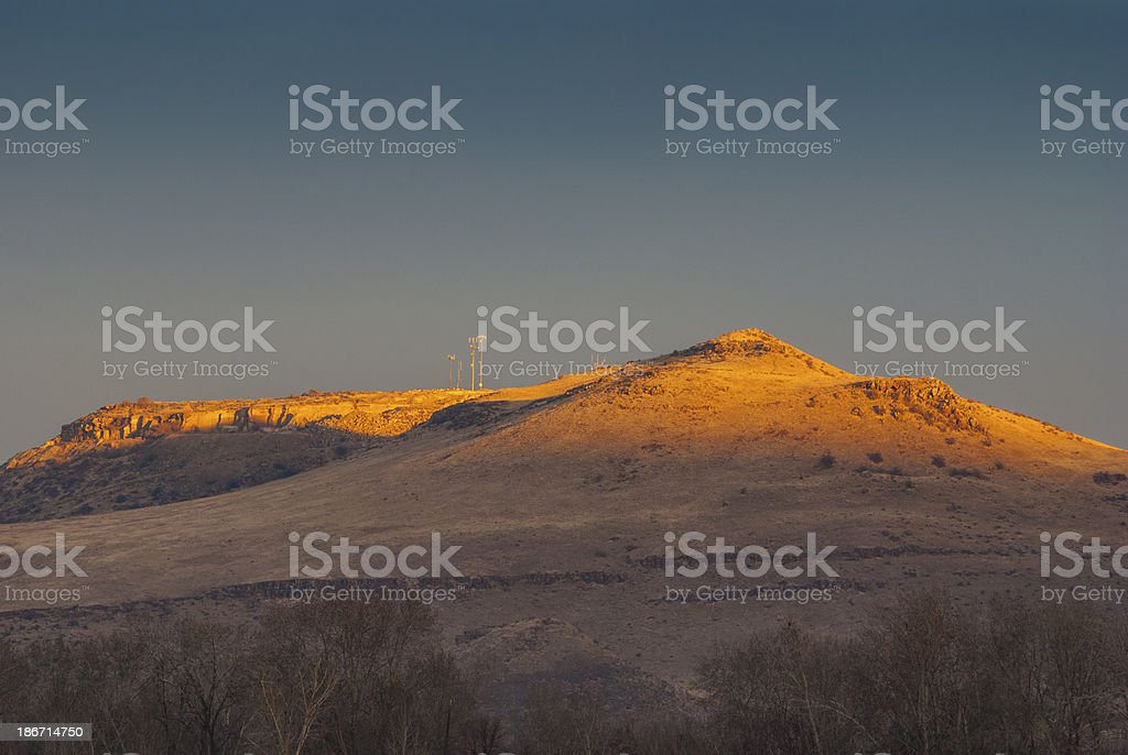 First light on Boise hills royalty-free stock photo