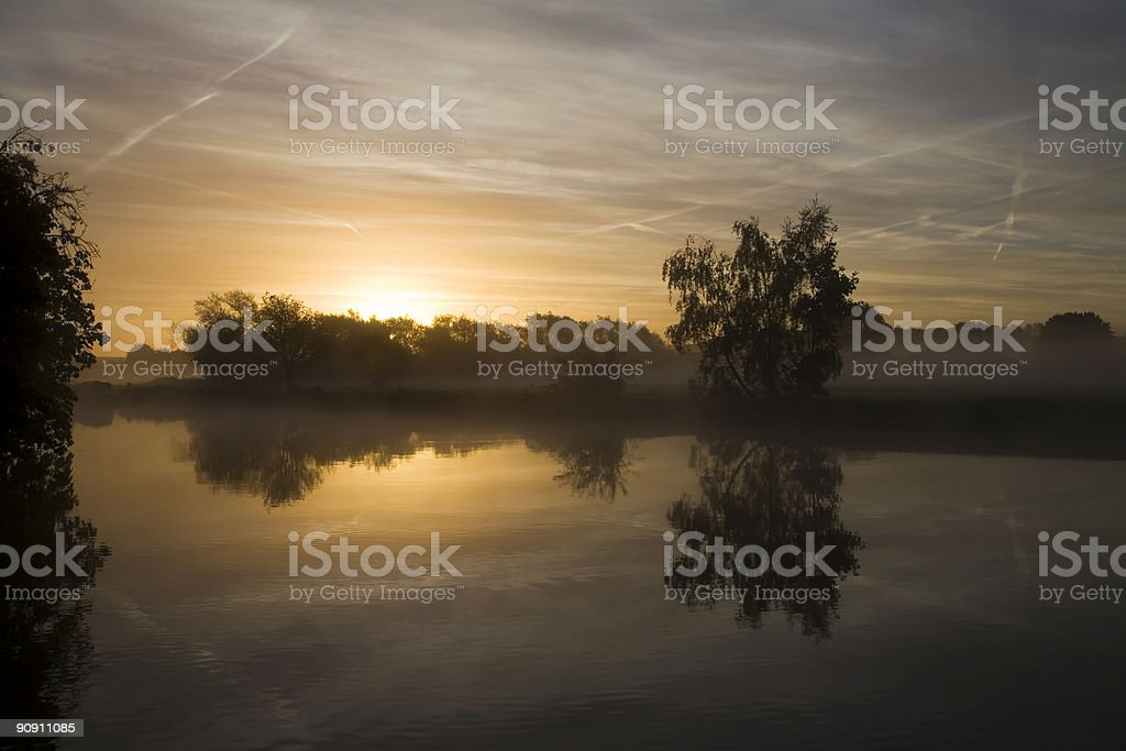 First light over the River Thames stock photo