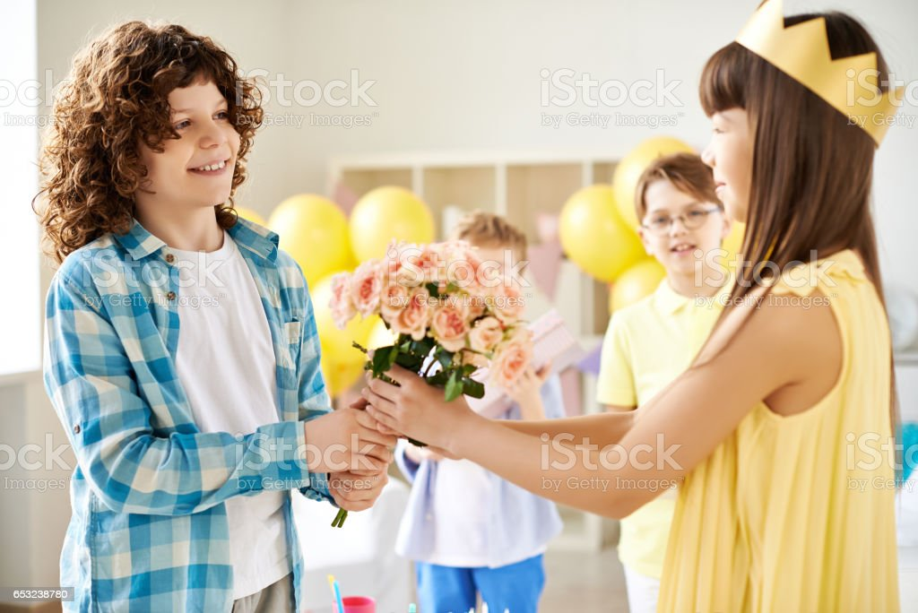 First love stock photo
