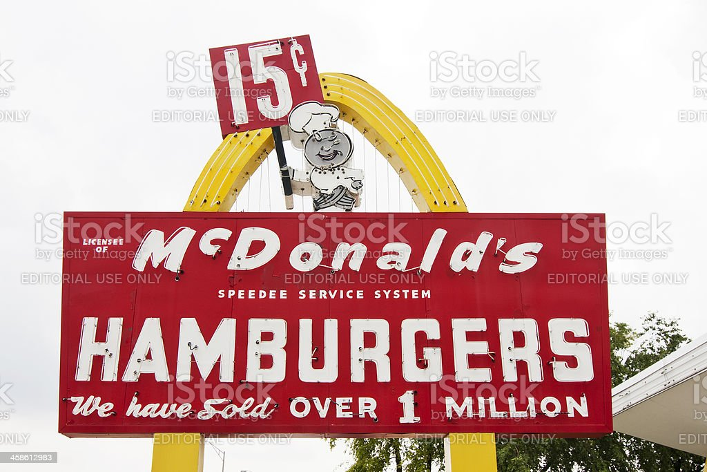 First McDonald's Franchise Sign royalty-free stock photo