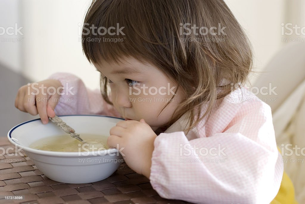 First meal royalty-free stock photo