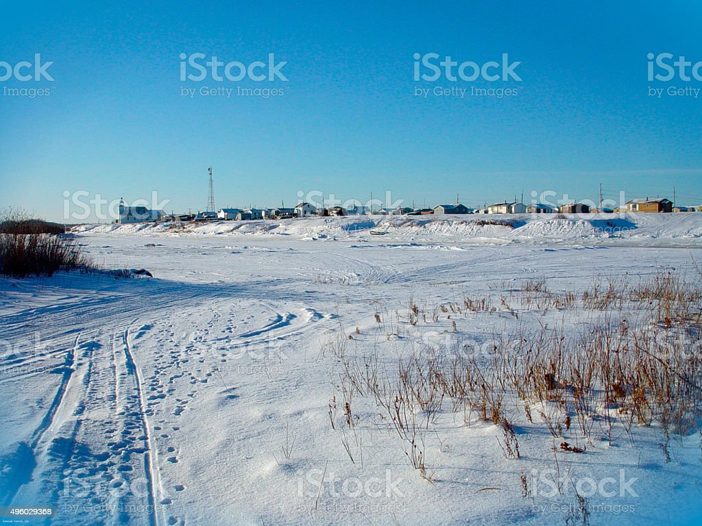 First Nation Community in Ontario Canada stock photo