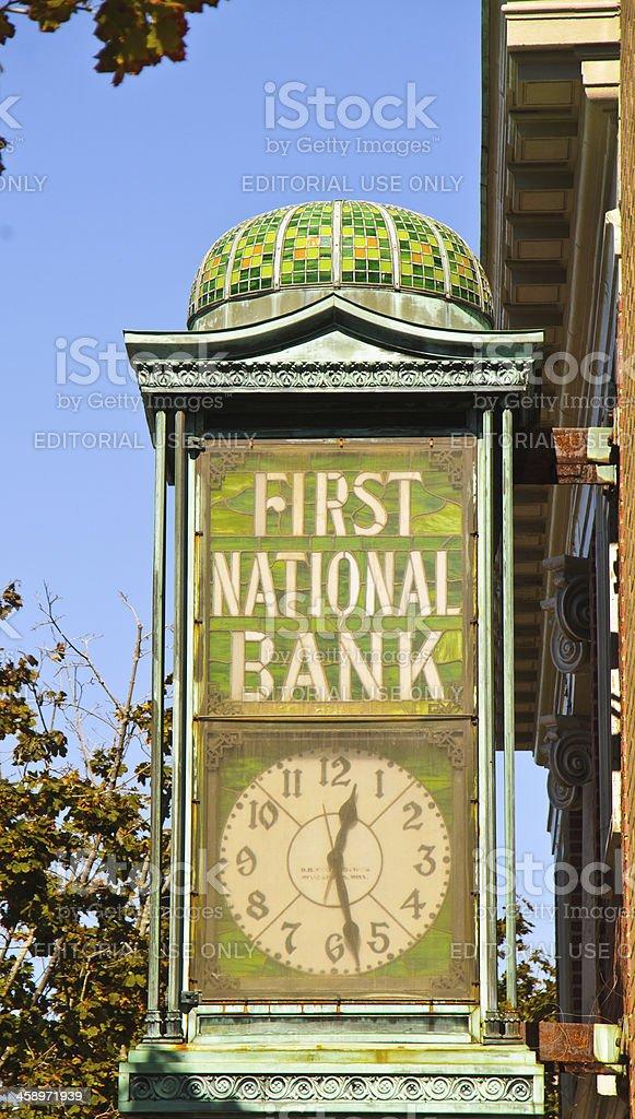 First National Bank Bar Harbor stock photo