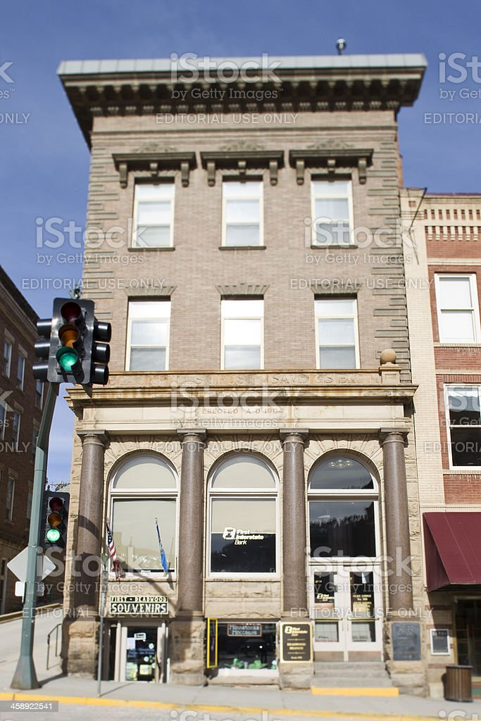 First National Bank Building - Deadwood, South Dakota stock photo