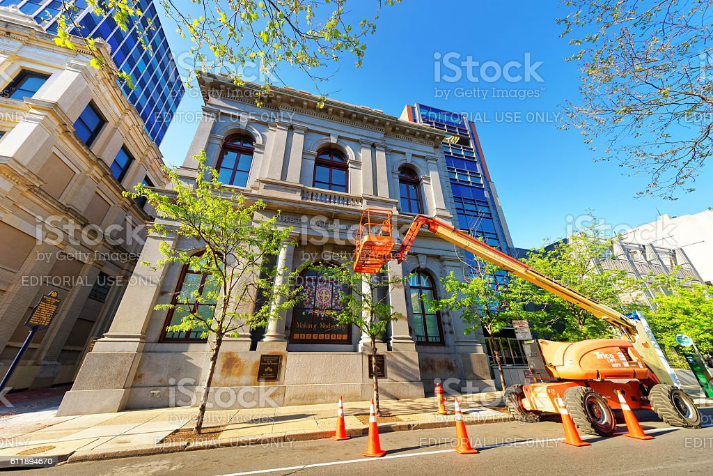 First National Bank Building in Philadelphia stock photo
