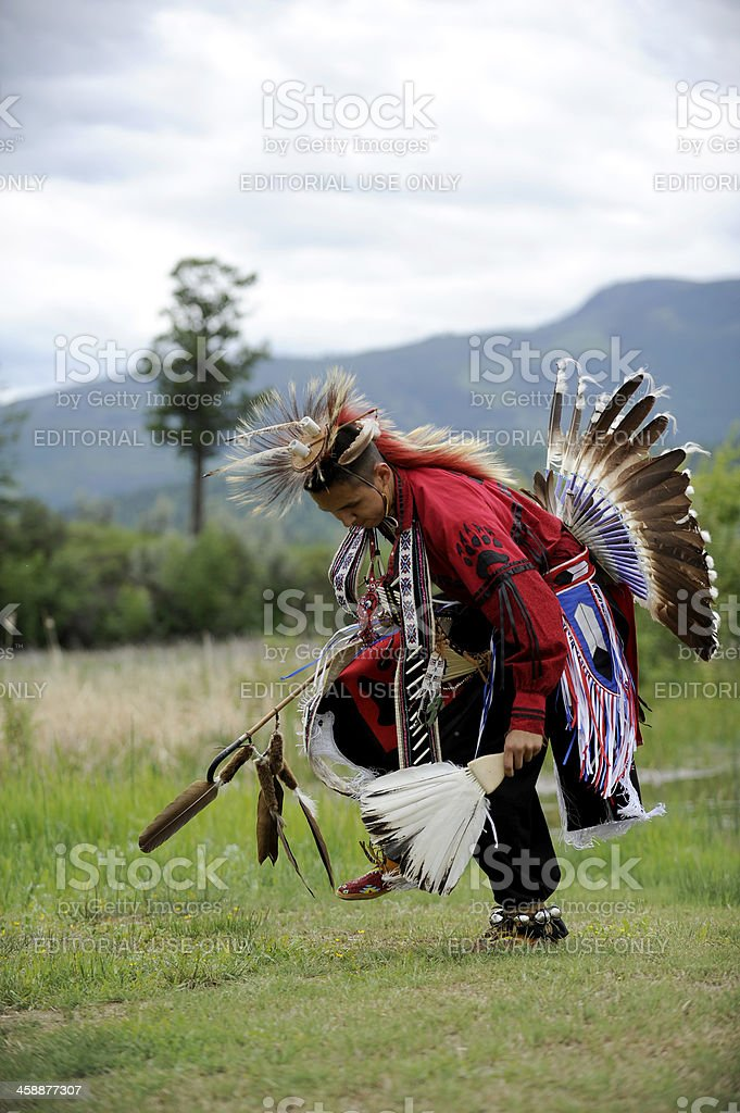First Nations Dancer stock photo