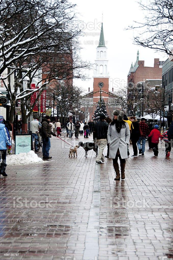 First Night crowds on Church Street stock photo