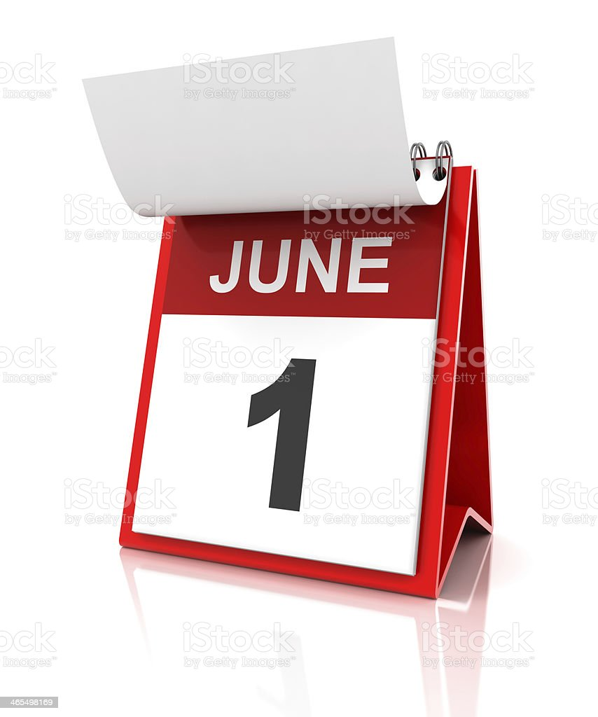 First of June calendar stock photo