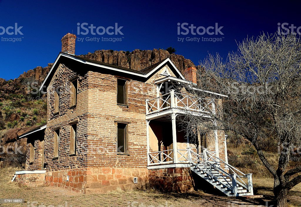 First Officers'Quarters Ft. Davis, Texas stock photo