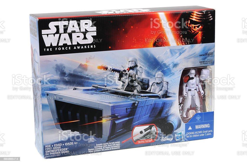 First Order SnowSpeeder Toy Vehicle stock photo