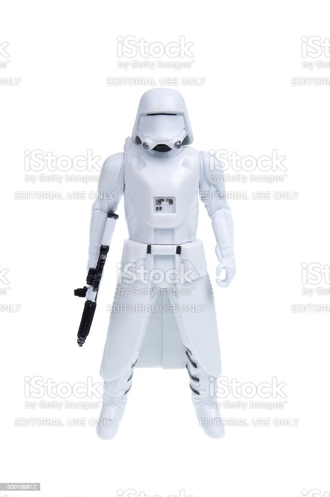 First Order Snowtrooper Action Figure stock photo