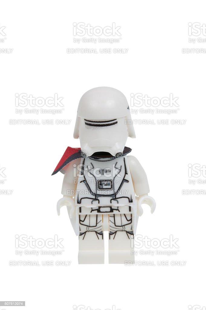 First Order Snowtrooper Force Awakens Lego Minifigure stock photo