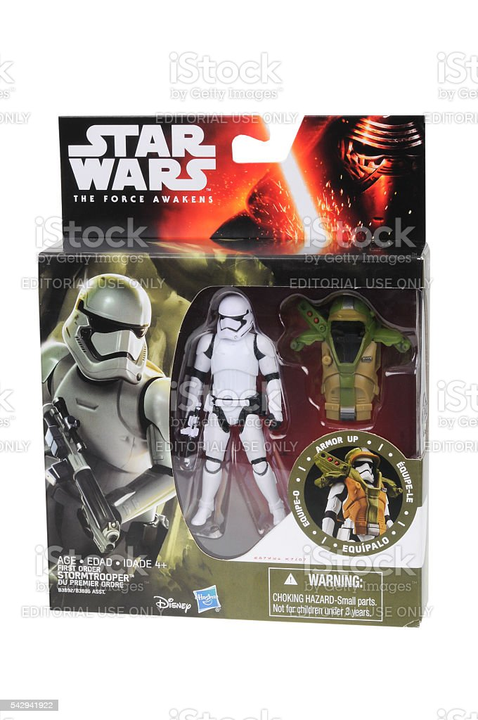 First Order Stormtrooper Armor Up Action Figure stock photo