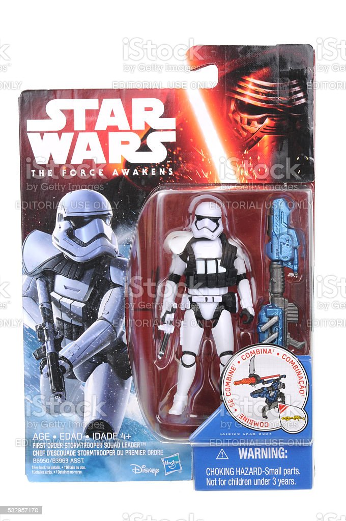First Order Stormtrooper Squad Leader Action Figure stock photo