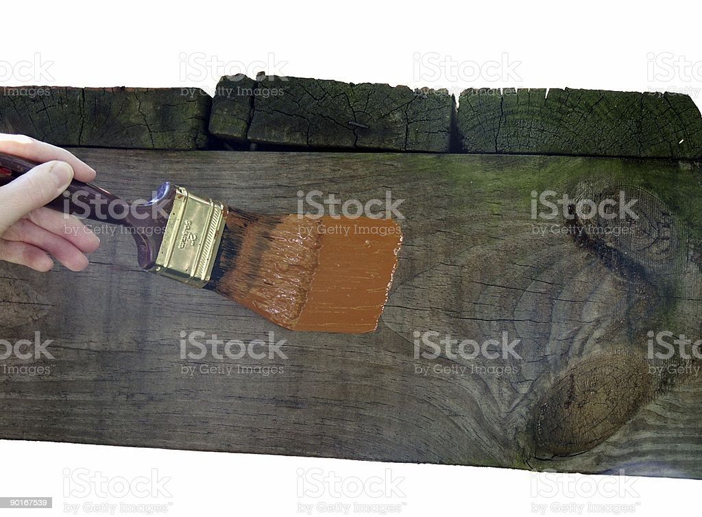 First paint stroke royalty-free stock photo