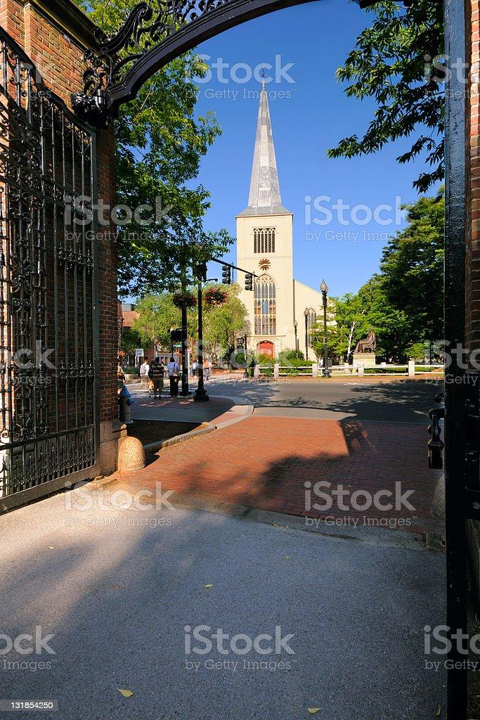 First Parish Cambridge stock photo