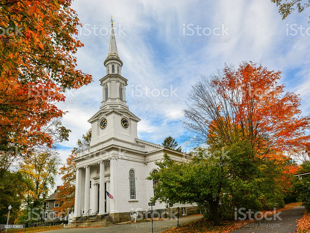First Parish in Lexington - Lexington, MA stock photo