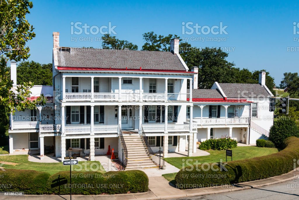 First Permanent Structure at Fort Monroe in Hampton, Virginia stock photo